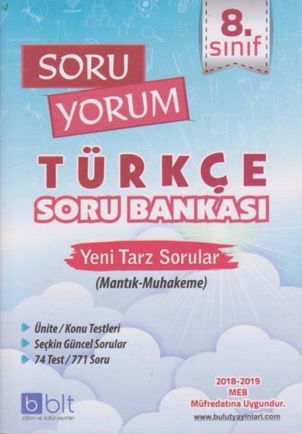 Bulut Eğitim 8. Sınıf Soru Yorum Türkçe Soru Bankası YENİ