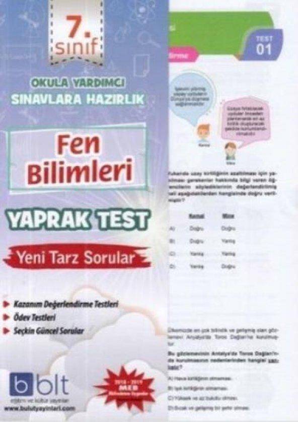 Bulut Eğitim 7. Sınıf Fen Bilimleri Yaprak Test YENİ