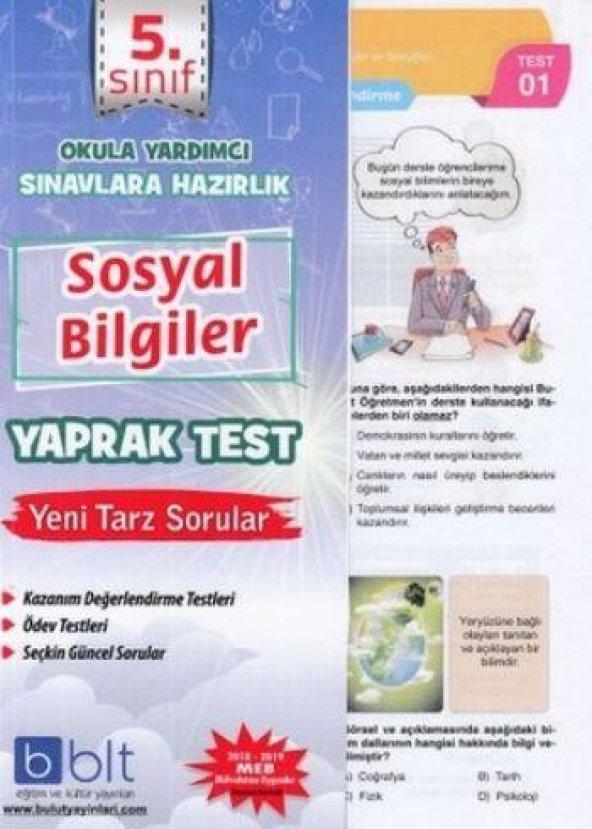 Bulut Eğitim 5. Sınıf Sosyal Bilimler Yaprak Test YENİ