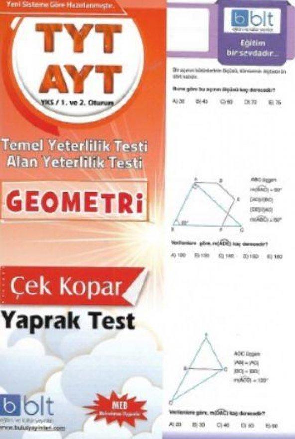 Bulut Eğitim TYT AYT Geometri Çek Kopar Yaprak Test YENİ