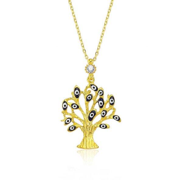 Armaganodan Gümüş Dilek Ağacı Bayan Kolye