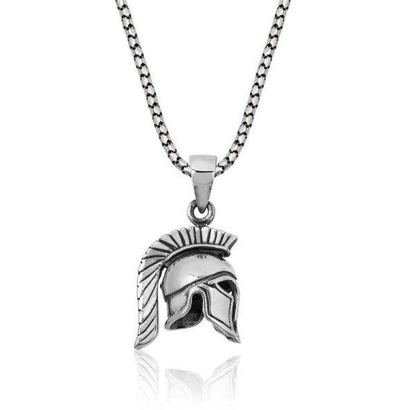 Armaganodan Gümüş Şovalye Miğfer Kolye