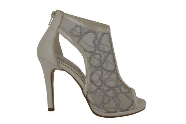 Marcatelli Beyaz Abiye Kadın Topuklu Ayakkabı 302