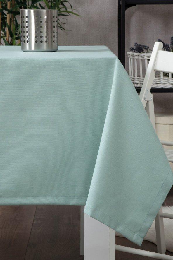 Zeren Home Dertsiz Düz Mutfak Masa Örtüsü Deniz Yeşili 160cm x 300cm