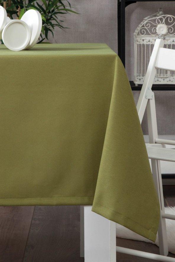 Zeren Home Dertsiz Düz Mutfak Masa Örtüsü Yeşil 140cm x 160cm