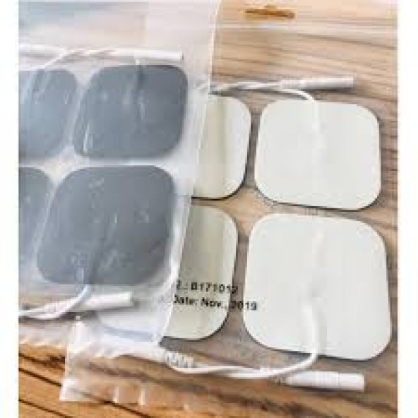 4 Adet Kablolu Tens Pedi Tens Cihazları için Tens Pedi Tens Elektrodu Kablolu Tens EMS Cihazı Pedi