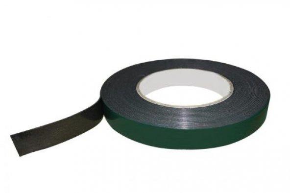 Ruvitape Çift Taraflı Köpüklü Bant (Yeşil-Liner) 19 mm 50 Metre