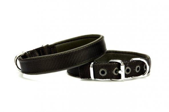 Doggie Softlu Köpek Boyun Tasması 1,5 cm x 30 cm Siyah