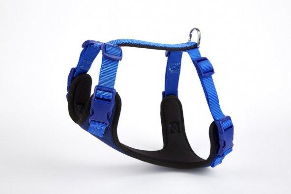 Doggie Yumuşak Softlu Köpek Göğüs Tasması 40/45 cm Mavi