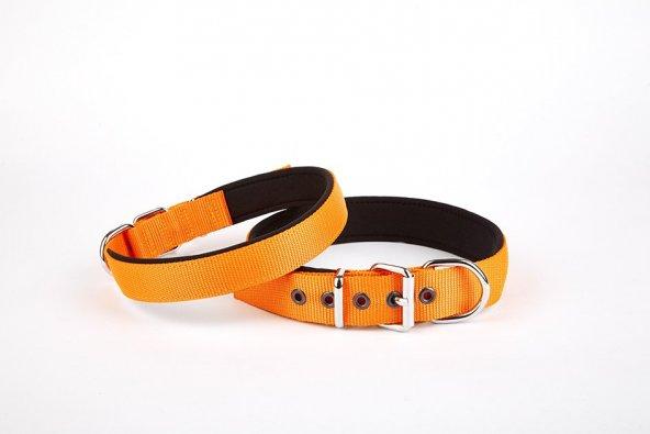 Doggie Softlu Köpek Boyun Tasması 3 cm x 55 cm Turuncu