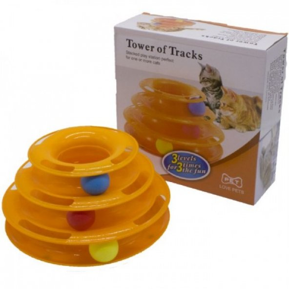 Tower of Tracks 3 Katlı Kedi Aktivite Oyuncağı 13*26 cm