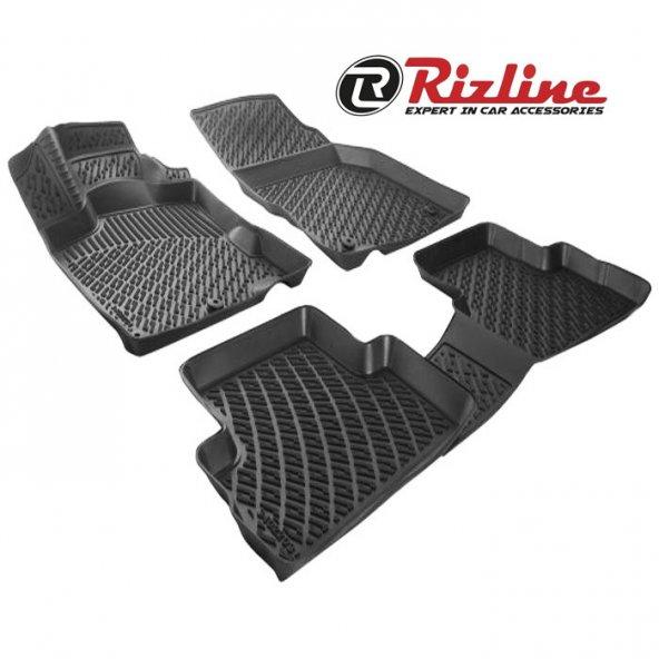 Rizline Bmw 4 Serisi F36 2013 Sonrası 3D Havuzlu Paspas Siyah