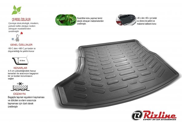 Rizline Mercedes C Serisi W205 Rampalı KULAKLI 3D Bagaj Havuzu