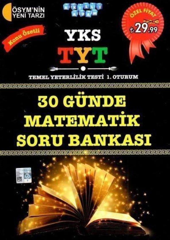 Akıllı Adam YKS TYT 30 Günde Matematik Konu Özetli Soru Bankası 1. Oturum