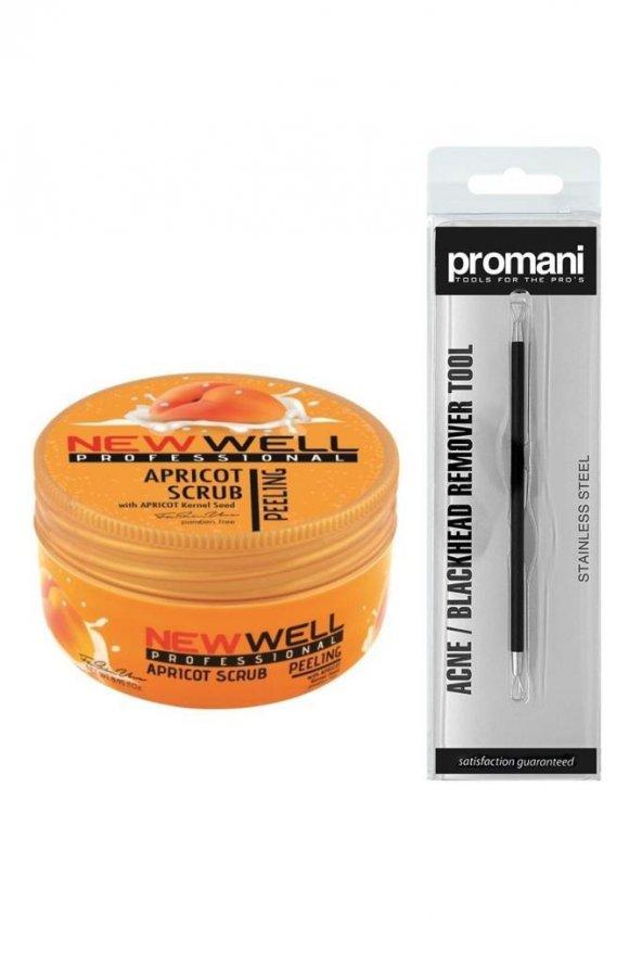 Newwell Kayısı Yüz Peelingi 250 ml+Promani Akne Sivilce Temizleme Aparatı