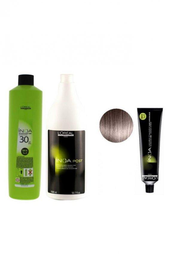 Loreal Inoa Krem Oksidan 30 Vol. 9 1000 ml+Post Boyalı Saç Şampuanı 1500 ml+Saç Boyası 9,12