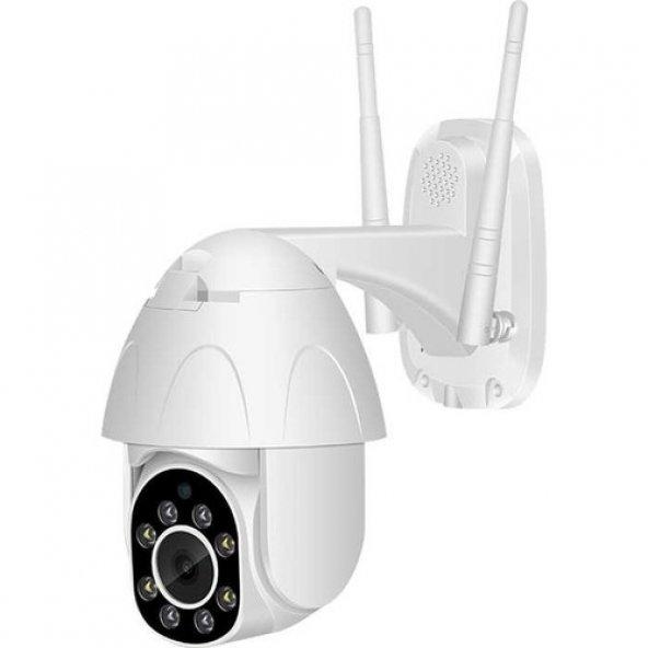 Kingboss 1080P HD Speed Dome Gece Görüşlü IP Kamera Motorlu Dış Mekan 355 Derece Dönerli