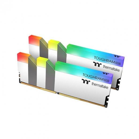 Thermaltake TOUGHRAM RGB 16GB (2x8GB) DDR4 3200Mhz CL16 Bellek (R022D408GX2-3200C16A) Beyaz