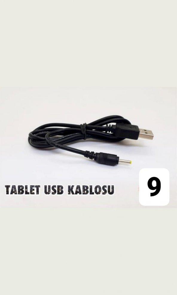 tablet usb şarj kablosu