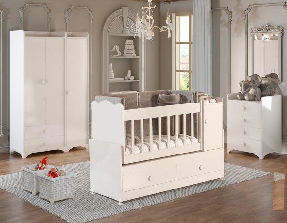 Büyüyen Bebek odası Takımı Beyaz