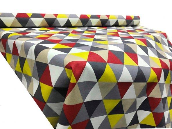 Zeren Home Geometrik Desen Dertsiz Mutfak Masa Örtüsü 100cm x 140cm