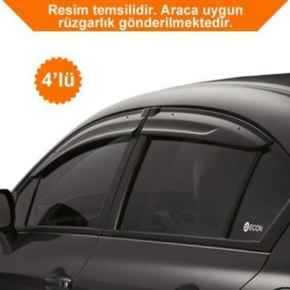 Fiat Uno 4,Lü Mugen Cam Rüzgarlık Rüzgarlığı