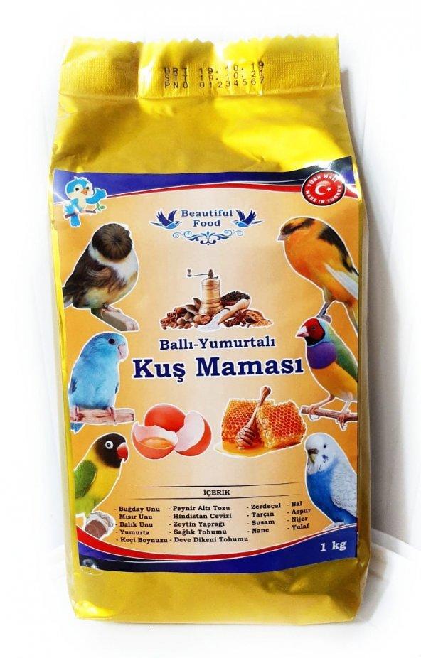 Beautiful Food Ballı Yumurtalı Kuş Maması Kuş Yemi 1 Kg