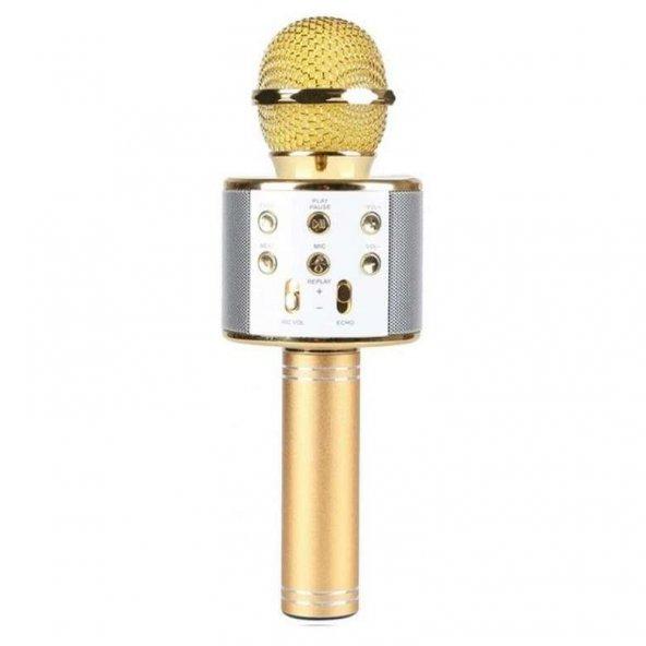 Piranha 7817 Karaoke Mikrofonu Altın