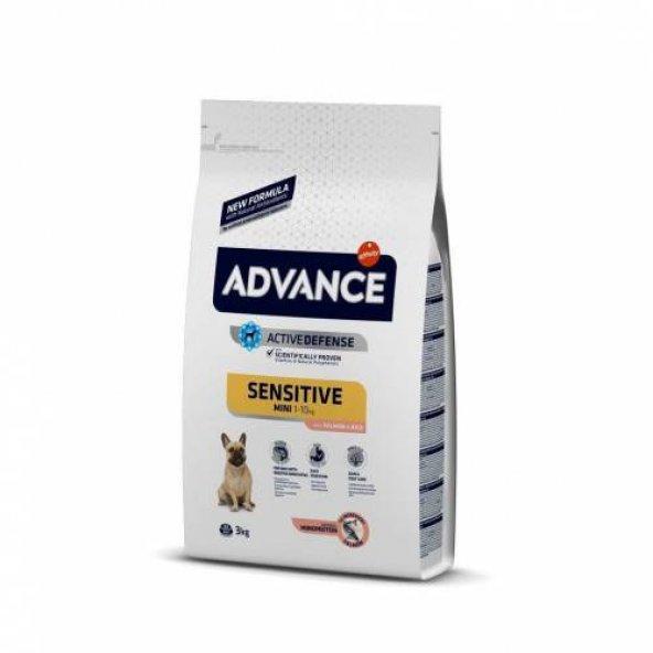 Advance Mini Sensitive Somonlu Küçük Irk Yetişkin Köpek Maması 3kg