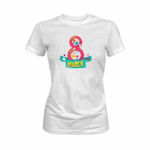Tshirthane 8 Mart Dünya Kadınlar Günü Tişörtü tshirt 8 March  Kadın Tişört