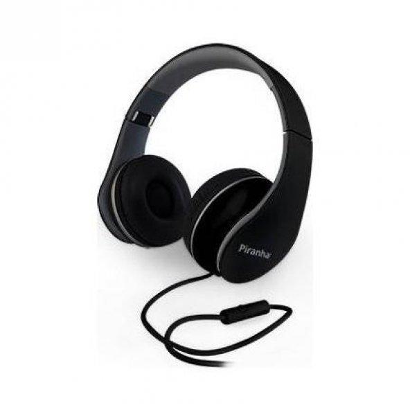 Piranha 2101 Stereo Kablolu Kulaklık Siyah
