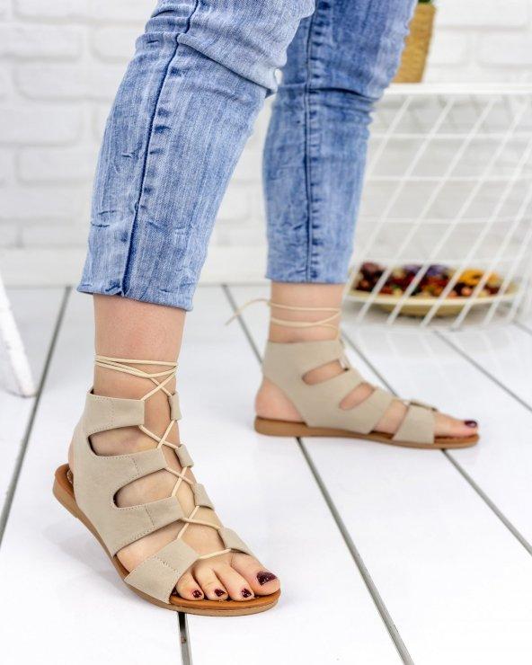 Kaiya Vizon Süet Sandalet