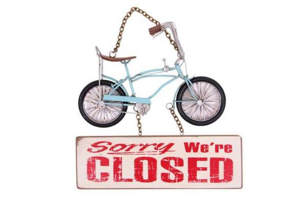 Dekoratif Metal Kapı Yazısı Bisiklet