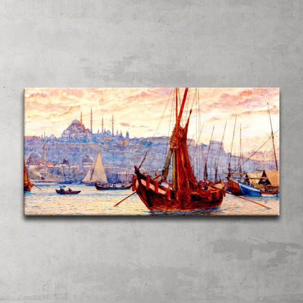 Eski İstanbul Kanvas Tablo
