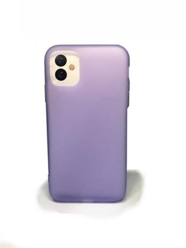 Apple iPhone 11-11 Pro-11 Max Buzlu Mat Transparan Kılıf Renkli