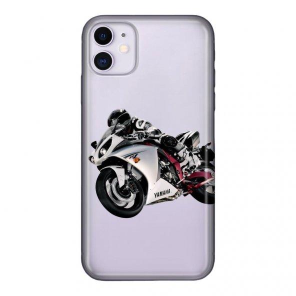 iPhone 11 6.1 inc Kılıf Desenli Esnek Silikon Telefon Kabı Kapak - Yamaha