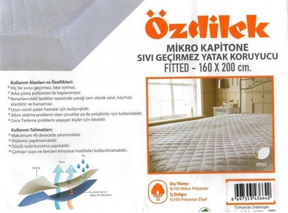 Özdilek Mikro Kapitone Çift Kişilik Sıvı Geçirmez Alez160x200