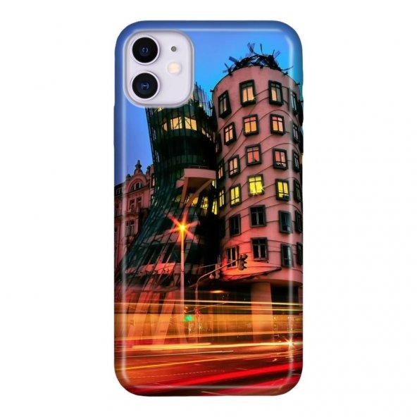iPhone 11 6.1 inc Kılıf Desenli Esnek Silikon Telefon Kabı Kapak - Mimari Tasarım