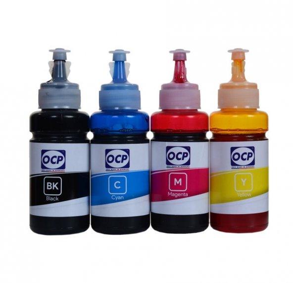 Epson L110 Yazıcı OCP 4 Renk Dye Mürekkep Seti 4x70 ml