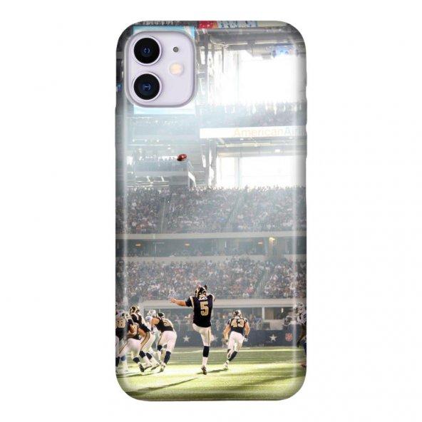 iPhone 11 6.1 inc Kılıf Desenli Esnek Silikon Telefon Kabı Kapak - Amerikan Futbol