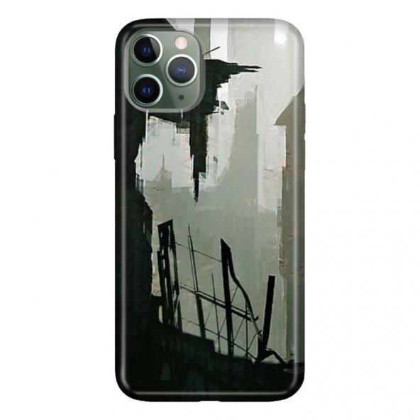 iPhone 11 Pro 5.8 inch  Kılıf Desenli Esnek Silikon Telefon Kabı Kapak - Suç Şehri