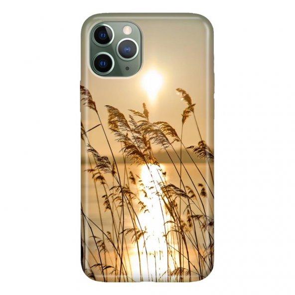 iPhone 11 Pro 5.8 inch  Kılıf Desenli Esnek Silikon Telefon Kabı Kapak - GünBatımı 90