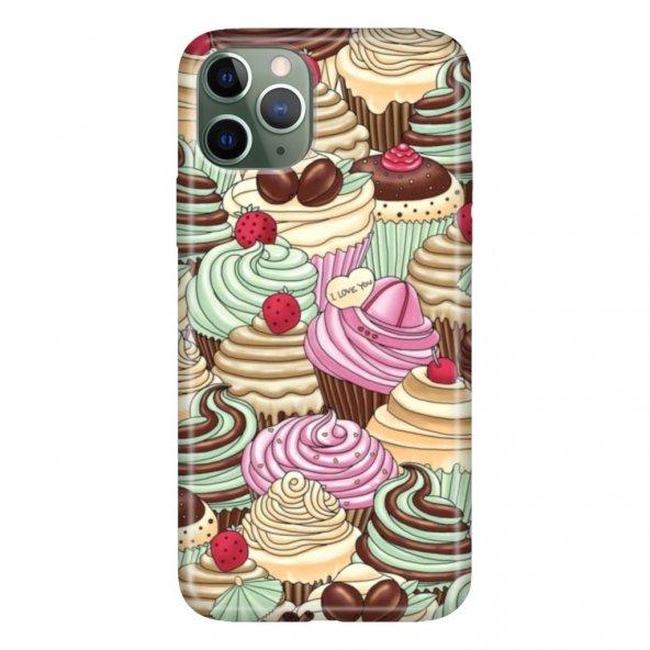 iPhone 11 Pro 5.8 inch  Kılıf Desenli Esnek Silikon Telefon Kabı Kapak - Cupcake Mis