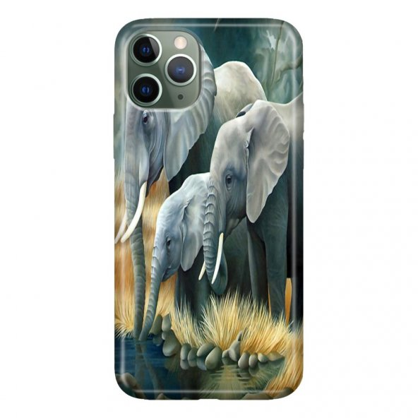 iPhone 11 Pro 5.8 inch  Kılıf Desenli Esnek Silikon Telefon Kabı Kapak - 3D Filler