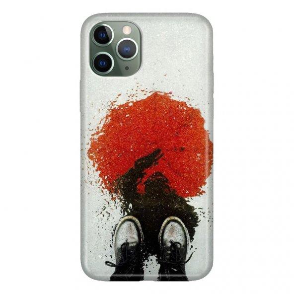 iPhone 11 Pro 5.8 inch  Kılıf Desenli Esnek Silikon Telefon Kabı Kapak - Kan Gölgesi