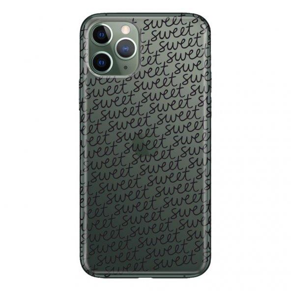 iPhone 11 Pro 5.8 inch  Kılıf Desenli Esnek Silikon Telefon Kabı Kapak - Sweet Letter