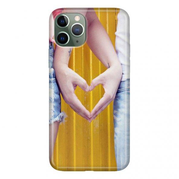 iPhone 11 Pro 5.8 inch  Kılıf Desenli Esnek Silikon Telefon Kabı Kapak - Kalp Aşk