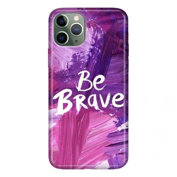iPhone 11 Pro 5.8 inch  Kılıf Desenli Esnek Silikon Telefon Kabı Kapak - Be Brave
