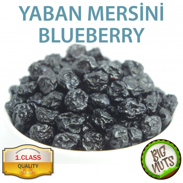 Blueberry Orjinal Mavi Yaban Mersini 250 Gr 500 Gr 1 Kg Big Nuts
