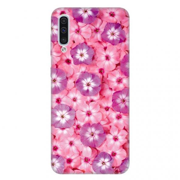 Samsung Galaxy A50 Kılıf Desenli Esnek Silikon Telefon Kabı Kapak - Çiçekli SSS